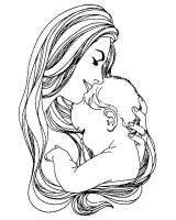 Раскраска на 8 марта, День матери, бабушке